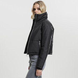 Urban Classics Cropped Puffer Jacket Black